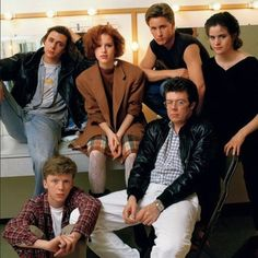 "Teen comedy auteur John Hughes, seen here with the cast of ""The Breakfast Club,"" conceived the film as the first in a series, with characters to be revisited every 10 years or so. Among the reasons this never happened: The ..."