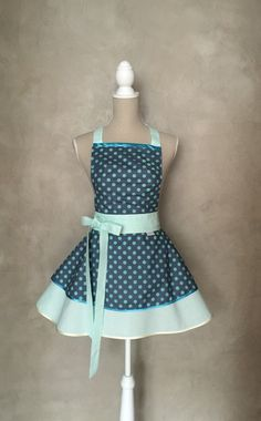 LUXURY APRON CHIC&Lovely RETRO BLUE-GREEN from CHIC&Lovely by DaWanda.com
