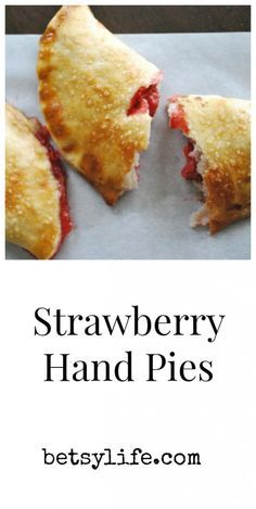 Strawberry Hand Pies. Desserts on the go! A fun summer recipe perfect for picnics
