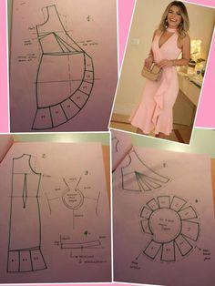 Suknja na preklop s volanom - Salvabrani - Salvabrani Skirt Patterns Sewing, Sewing Patterns Free, Clothing Patterns, Fashion Sewing, Diy Fashion, Sewing Clothes, Diy Clothes, Costura Fashion, Pattern Drafting