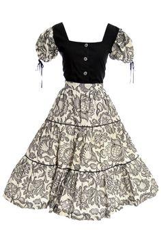 Vintage dress 2 piece Boris Smoler & Sons 1950's cotton shirt n