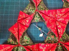 Folded Fabric Christmas Tree - A Tutorial