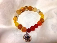 Yellow and red bracelet for my mum. :)