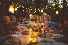 Outdoor dinner party! This would be so fun!