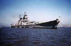 80-G-K-9343 | 80-G-K-9343 (Color): USS Missouri (BB-63). Anc… | Flickr