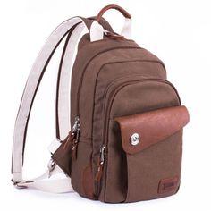 Xinchaodai Korean Version Of The Leisure Backpack Shoulders Bag Women New Canvas Travel Package Chest Pack Multifunction Shoulder Bag Shoulder bags 18894507956