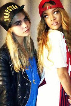 Cara Delevingne & Rihanna