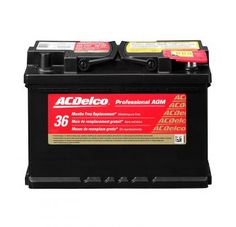 ACDelco Professional Automotive AGM BCI Group 48 Battery with Auxillary Battery Positive Cable - Automotive Golf Cart Batteries, Optima Battery, Electrical Energy, Lead Acid Battery, Free, Charger, Truck, Pdf, Business