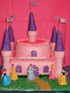 Homemade Princess Castle Cake: Here is a Princess Castle Cake I made for my daughter's 3rd birthday that had the Disney Princesses theme. I used many of the other cakes on this page