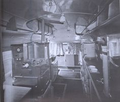 The inside of a London bus converted into a clubmobile for serving coffee and doughnuts. Mobile Catering, American Red Cross, London Bus, Jeep Stuff, Doughnuts, World War Two, Food Truck, Military Vehicles, Ministry