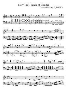 Fairy Tail - Sense of Wonder (OP2) Anime Sheet Music, Piano Anime, Violin Sheet Music, Piano Music, Piano Sheet, Fairytail, Gruvia, Fairy Tail Funny, Fairy Tail Anime