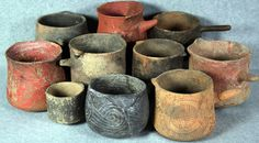 Residents of Cahokia, a massive settlement near the confluence of the Missouri and Mississippi Rivers, consumed the drink from special pottery vessels like these (The Illinois State Archaeological Survey / via Crown et al, PNAS)