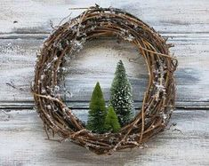 primitive Christmas Crafts Etsy :: Your place to buy and sell all things handmade Primitive Christmas, Country Christmas, All Things Christmas, Winter Christmas, Christmas Holidays, Christmas Wreaths, Xmas, Primitive Decor, Primitive Wreath