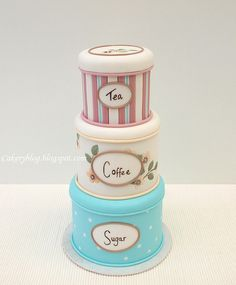 Tin cakes - Cute - For a Bridal Shower this would be adorable