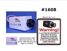 1 VAS #1606 Indoor Dummy Camera Blinking LED W (1) #140 Decal by VAS First Response. $14.25. Product Description: #1606 Now you can deter robbery, theft, and vandalism without the high cost of a real outdoor security camera. When placed outside your home or business, even the most sophisticated criminals will think the premises is guarded by a high-tech surveillance system and go in search of an easier target. In fact, this is an actual surveillance camera in outd...