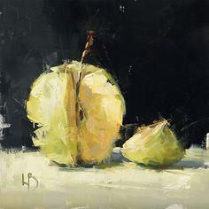 8 x 8″, Untitled Apple, Oil on board