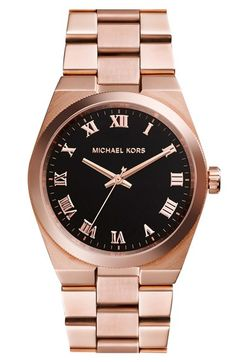 MICHAEL Michael Kors Michael Kors 'Channing' Turquoise Dial Bracelet Watch, 38mm available at #Nordstrom
