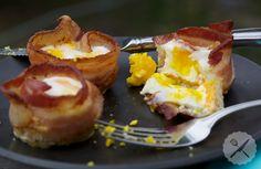 Toast, Cheddar, & Bacon Eggs // AsAVerb.com