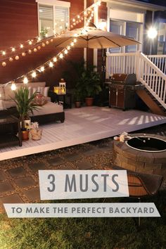 When it comes to making the perfect backyard space, there are three essentials that add that extra dose of design impact. From outdoor lights to comfortable seating for entertaining, The Home Depot and @SeekingAlexi have thought of it all!