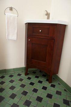 Zig Zag Bathroom Floor - spaces - minneapolis - Clay Squared to Infinity