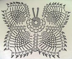 – Knitting world and crochet Crochet Bra, Thread Crochet, Crochet Motif, Crochet Doilies, Crochet Stitches, Free Crochet, Crochet Butterfly, Crochet Flowers, Doily Patterns
