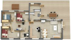 YOU DECIDE -- Would this make a good dorm or youth hostel? Why or why not?   Floor Plan Professionals & Home Builders can re-create this: http://www.roomsketcher.com/floorplans/  #floorplans #homebuilders
