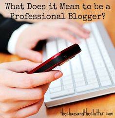 What Does it Mean to be a Professional Blogger?