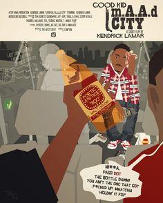 good kid, m.A.A.d city | 17 Awesome Pieces Of Unofficial Kendrick Lamar Album Art