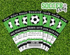 Football Ticket Invitation Template Free Lovely soccer Birthday Party Invitation Ticket Printable by