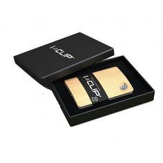 Flot naturfarvet I-Clip kortholder / pung - super god kvalitet