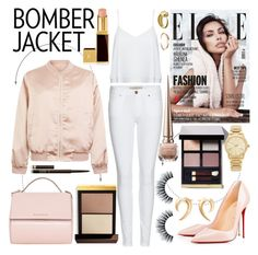 """The Bomber Jacket"" by dreamer-for-days ❤ liked on Polyvore featuring Tom Ford, Cameo Rose, Burberry, Alice + Olivia, Christian Louboutin, Givenchy, Michael Kors, Shaun Leane, I+I and women's clothing"