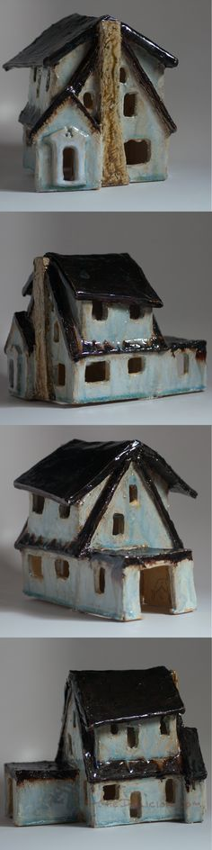 ceramic house based on my sister's by The Delicion