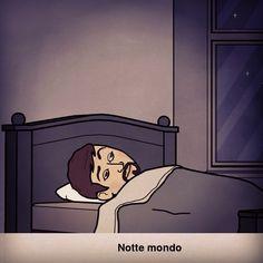 Notte mondo  #notte #mondo #good_night #casa #home #milan #milano #pasteur #kiss #instagram #instamoment #hastag #bitstrips #avatar #io #sonno #social #network #letto