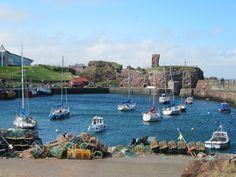 Dunbar harbour, East Lothian, Scotland