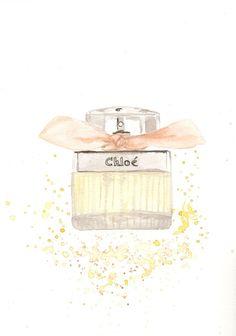 Perfume bottle illustration  Chloe by Chloe Fragrance by MilkFoam, $30.00