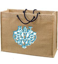 Jute Gift Tote Bags Custom Printed