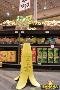Banana Peel Caution Wet Floor    Banana Products Wet Floor Signs, Banana, Flooring, Products, Wood Flooring, Bananas, Floor, Beauty Products, Floors
