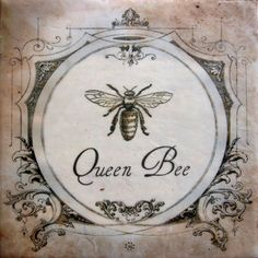 Queen Bee Painting French Cottage Vintage by KissedByABee on Etsy, $48.00