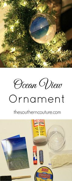 Keep your summer vacation and memories alive even at Christmas with this Ocean View Ornament. You can collect sand and seashells from your trip and keep them for this fun holiday craft from thesoutherncouture.com. #CleanForTheHolidays #ad @bissellclean