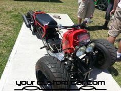 honda ruckus 3 wheel conversion Amazing!
