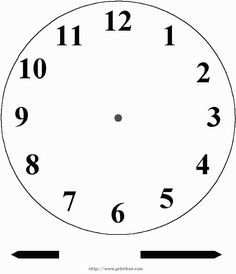Clock Template Printable  Purzen Clock Face Clip Art  Vector