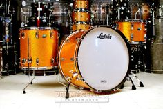 Ludwig Classic Maple 3pc Drum Set Gold Sparkle