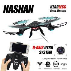 RC Drone Dengan Kamera WIFI Quadcopter Drone Headless Modus 6 Sumbu Gyro 4CH Drone 360 Derajat Rollover RC Helikopter Dengan Cahaya!!!