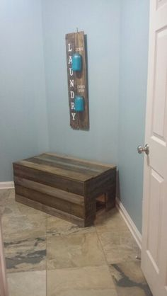 """Crafted a """"cover up"""" for the litter box."""
