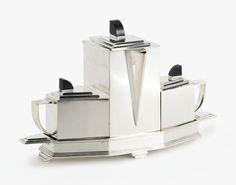 """Gene Theobald """"DIAMENT"""" TEA SERVICE SOLD. 10,625 USD"""