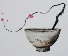 near to the wild heart Japanese Ink Painting, Zen Painting, Chinese Painting, Art Chinois, Tinta China, Muse Art, Japanese Flowers, China Art, Tea Art