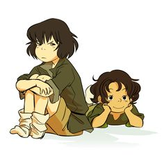 """""""ghibli style beibies"""" by the Great Makani lin and su yin beifong"""