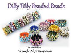 Dilly Tilly Beaded Beads- Tila Pattern Tutorial.