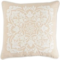 Pier 1 Imports Pink Romantic Glam Medallion Pillow ($25) ❤ liked on Polyvore featuring home, home decor, throw pillows, pink, pink throw pillows, pink home decor, romantic home decor, embroidered throw pillows and pier 1 imports