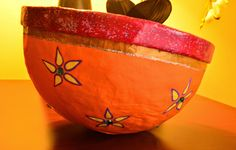 It's all about creativity,diy projects, Best out of waste and a never ending imagination. Paper Mache Bowls, Diy Paper, Serving Bowls, Imagination, Creativity, Diy Projects, Tableware, Art, Art Background